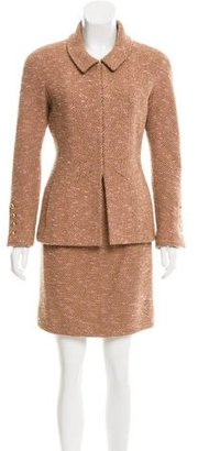 Chanel Wool Tweed Skirt Suit $600 thestylecure.com