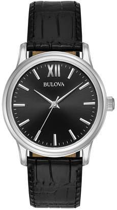 Bulova Men's Leather Watch