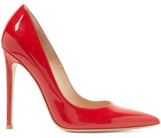 Gianvito Rossi Gianvito 105 Patent Leather Pumps - Womens - Red