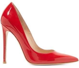 Gianvito Rossi Gianvito 105 Patent Leather Pumps - Womens - Red