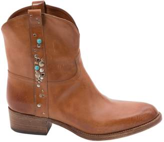 Sartore Camel Leather Boots