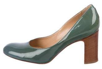 Dries Van Noten Patent Leather Round-Toe Pumps