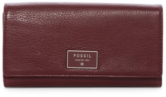 Fossil Dawson Leather Clutch Wallet $80 thestylecure.com