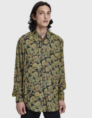 Our Legacy Initial Button Up Shirt in Black Plants Print