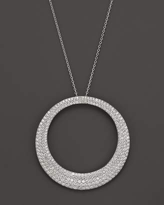 Roberto Coin 18K White Gold Large Scalare Diamond Necklace, 18""