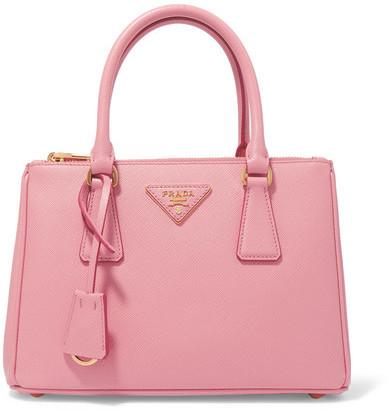 pradaPrada - Galleria Mini Textured-leather Tote - Pink