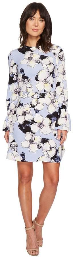 Ellen Tracy Cloque Belted Shift Dress