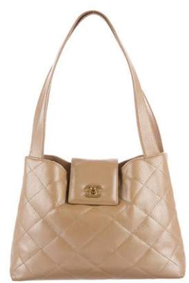 Chanel Iridescent Quilted Caviar Tote beige Iridescent Quilted Caviar Tote