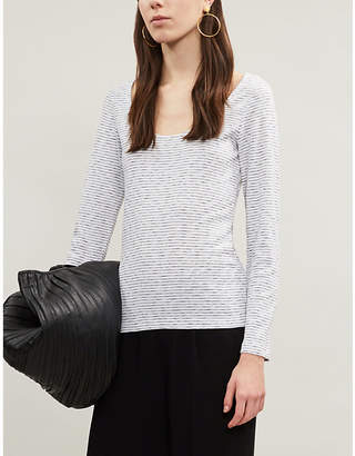 The White Company Striped longsleeved cotton T-shirt