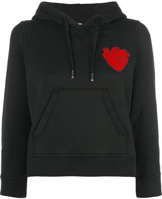 DSQUARED2 heart patch hoodie