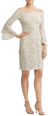 Lauren Ralph Lauren Off-the-Shoulder Lace Dress