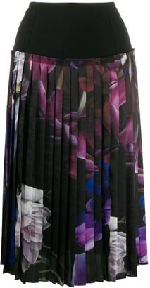 Roberto Cavalli floral print pleated skirt