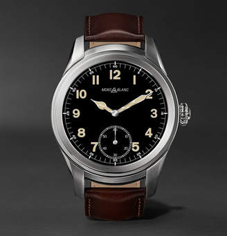 Montblanc Summit 46mm Titanium and Leather Smart Watch