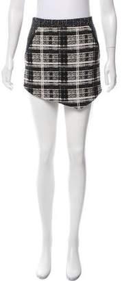 Marissa Webb Leather-Trimmed Mini Skirt