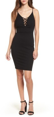 Women's Soprano Cross Front Body-Con Dress $52 thestylecure.com