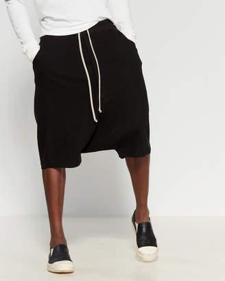 Rick Owens Drop Crotch Drawstring Shorts