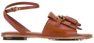 Tod's fringed flat sandals