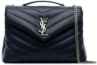 Saint Laurent Midnight Blue Loulou small quilted leather shoulder bag
