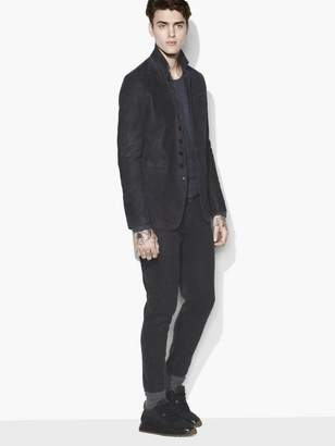 John Varvatos Multi-Button Suede Jacket