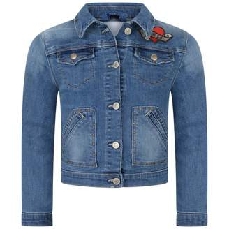GUESS GuessGirls Blue I Dont Care Denim Jacket