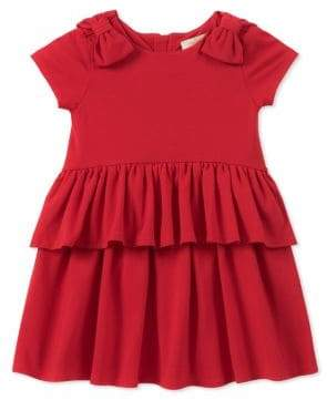 Kate Spade Little Girl's Two-Piece Peplum Waist Dress and Panty Set