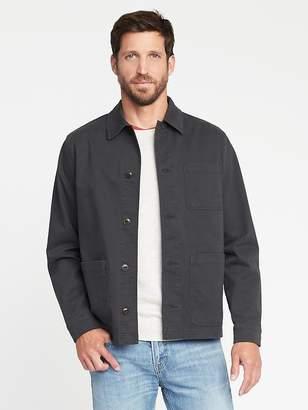 Old Navy Built-In Flex Twill Shirt Jacket for Men