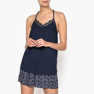 La Redoute Collections Printed Lacy Short Pyjamas