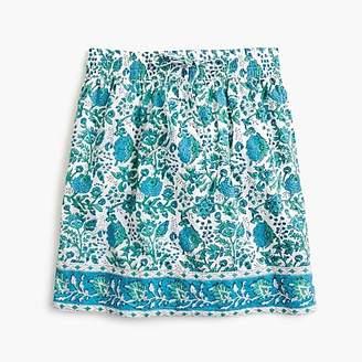 J.Crew SZ BlockprintsTM for drawstring skirt