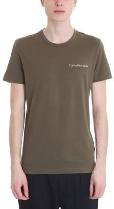 Calvin Klein Green Cotton T-shirt