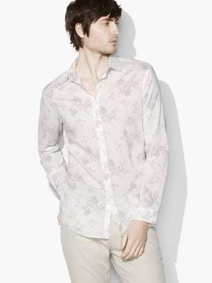 John Varvatos Allover Floral Shirt