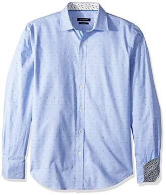Bugatchi Men's Cotton Slim Fit Point Collar Button Down