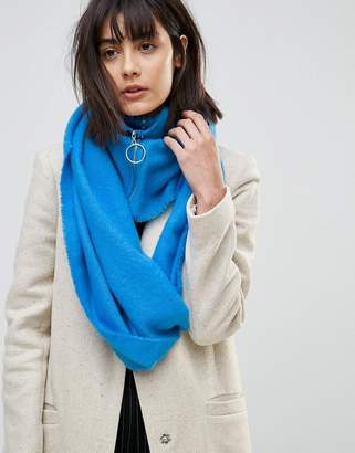 Asos Woven Infinity scarf With Zip and Ring Pull