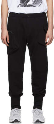 Yohji Yamamoto Black French Terry Cargo Pants