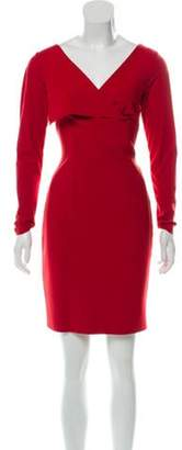 Chiara Boni Mini Sheath Dress Red Mini Sheath Dress