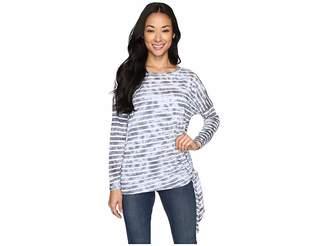 Allen Allen Long Sleeve Side-Tie Top Women's Long Sleeve Pullover