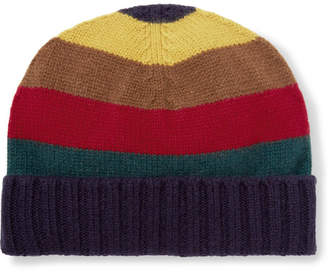 Etro Striped Ribbed Cashmere Beanie - Multi