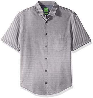 HUGO BOSS Boss Green Men's C-Baulino Striped Short Sleeve Shirt