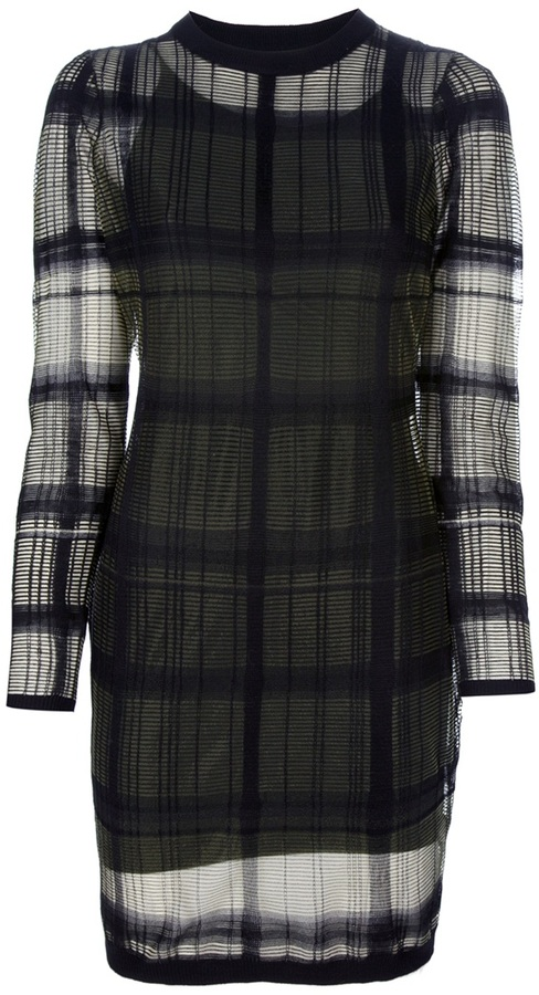 Alexander Wang Trompe Loeil plaid dress
