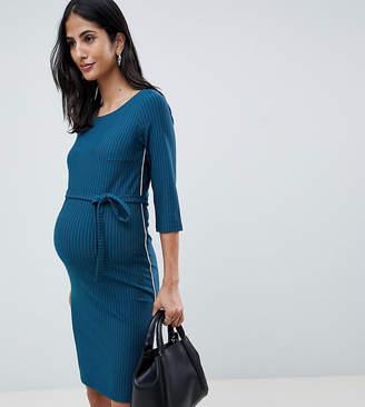Mama Licious Mama.licious Mamalicious belted midi dress