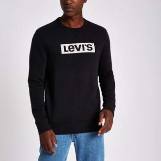 Levi's black long sleeve logo sweatshirt