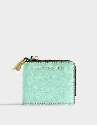 Marc Jacobs The Grind Snap Wallet in Surf Cow Leather