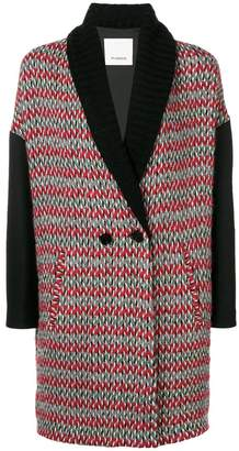 Pinko knitted double breasted coat