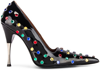 Area Polka Dot Studded Pump in Black & Multi | FWRD