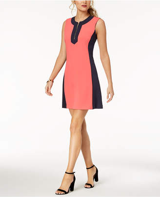 Tommy Hilfiger Coloblocked A-Line Dress
