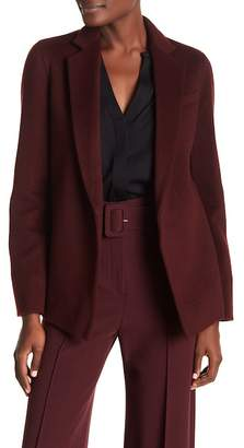 Theory Pleated Back Wool Blend Jacket