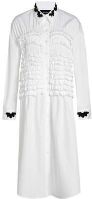 Simone Rocha Cotton Shirt Dress with Ruffles