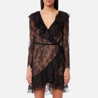 For Love & Lemons Women's Daphne Lace Wrap Dress
