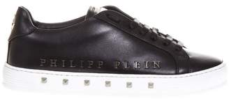 Philipp Plein Black First Time Leather Sneakers