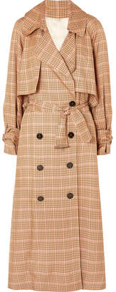 Golden Goose Vela Checked Twill Trench Coat - Light brown