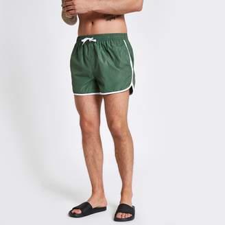 ac2a023dc7 River Island Mens Football Bolt Green runner swim shorts